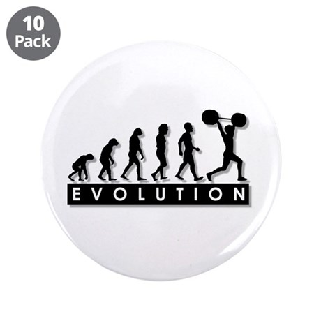 """Evolution of Body Building 3.5"""" Button (10 pack)"""