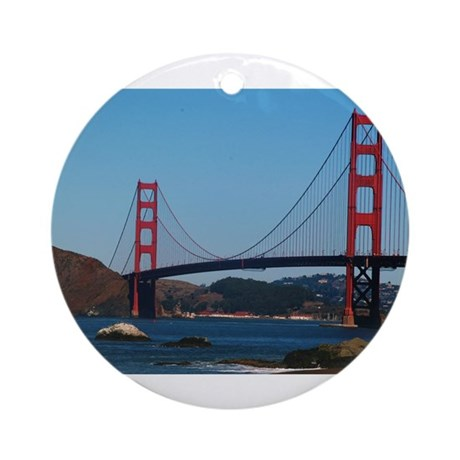 Golden Gate Bridge from Baker Ornament (Round)
