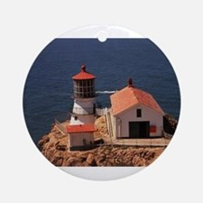 Point Reyes Lighthouse Ornament (Round)