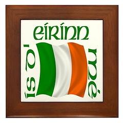 'I Am of Ireland' (Flag) Framed Tile