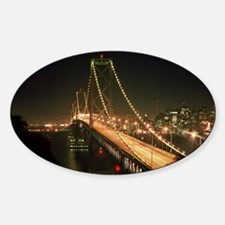 Oakland Bay Bridge Oval Decal