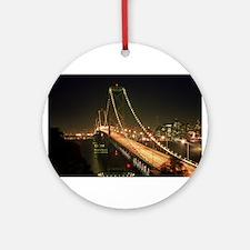 Oakland Bay Bridge Ornament (Round)