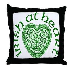 Irish At Heart Throw Pillow