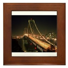 Oakland Bay Bridge Framed Tile