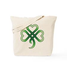 Celtic Clover Tote Bag