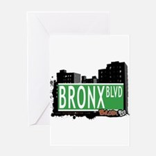 Bronx Blvd, Bronx, NYC Greeting Card