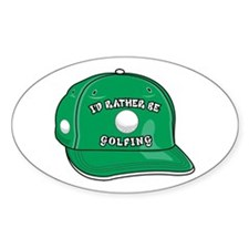 Rather Be Golfing Oval Decal