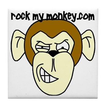 Rock My Monkey Tile Coaster