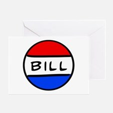 Bill Button Greeting Card