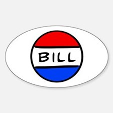 Bill Button Oval Decal