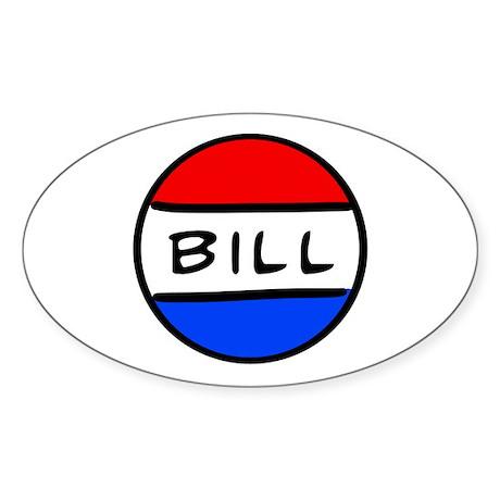 Bill Button Oval Sticker