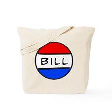 Bill Button Tote Bag