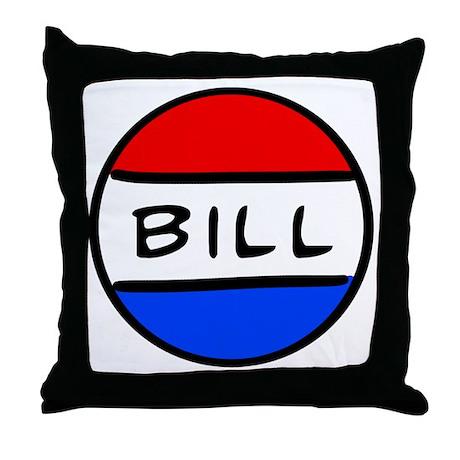 Bill Button Throw Pillow