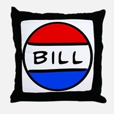 Bill Button Throw Pillow