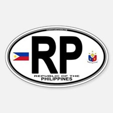 Philippines Euro Oval Oval Decal