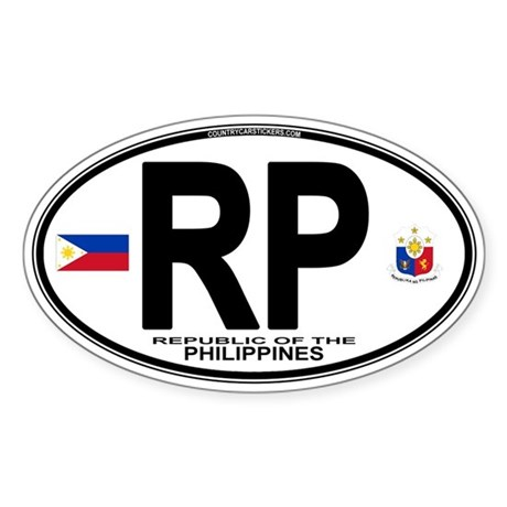 Philippines Euro Oval Oval Sticker