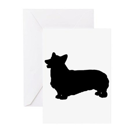 Pembroke Silhouette Greeting Cards (Pk of 10)