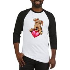Airedale Holding Heart Baseball Jersey