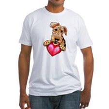Airedale Holding Heart Shirt