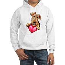Airedale Holding Heart Hoodie
