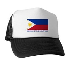 Philippines Flag (labeled) Trucker Hat