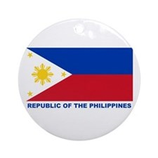 Philippines Flag (labeled) Ornament (Round)
