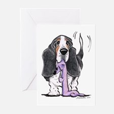 Tricolor Basset Playtime Greeting Cards (Pk of 10)