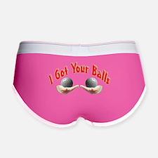 Golf Balls Women's Boy Brief