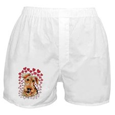 Airedale Terrier Hearts Boxer Shorts