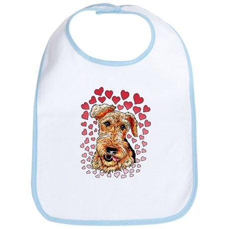 Airedale Terrier Hearts Bib