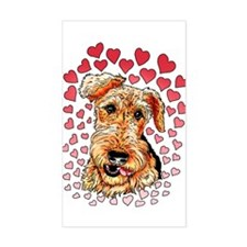 Airedale Terrier Hearts Decal