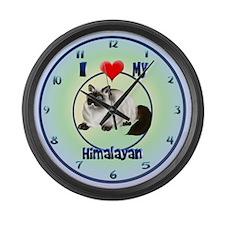 I Love My Himalayan Large Wall Clock