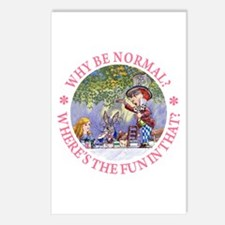 MAD HATTER - WHY BE NORMAL? Postcards (Package of