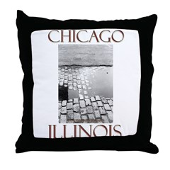 Old Chicago Throw Pillow