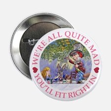 """MAD HATTER'S TEA PARTY 2.25"""" Button (10 pack)"""