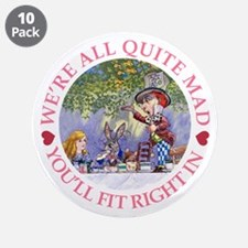 "MAD HATTER'S TEA PARTY 3.5"" Button (10 pack)"