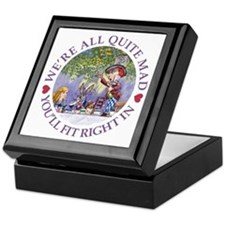 MAD HATTER'S TEA PARTY Keepsake Box