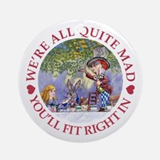 MAD HATTER'S TEA PARTY Ornament (Round)
