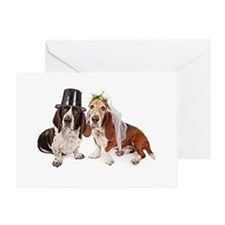 Basset Wedding Greeting Card