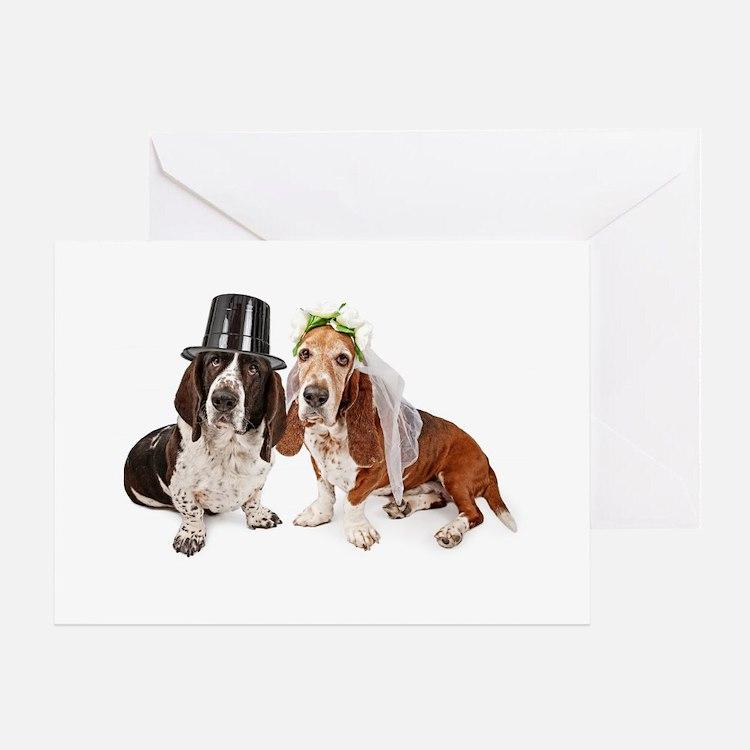 Basset Wedding Greeting Card