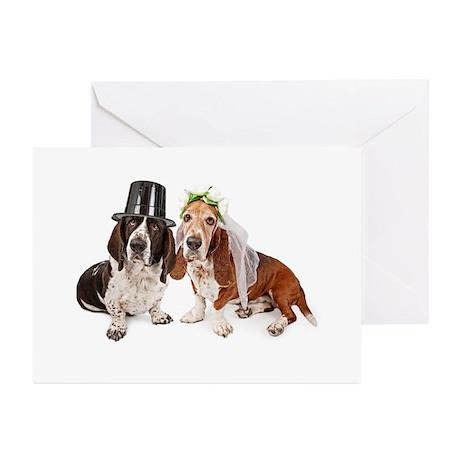 Basset Wedding Greeting Cards (Pk of 20)