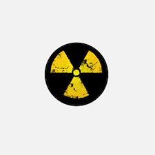 Distressed Radiation Symbol Mini Button