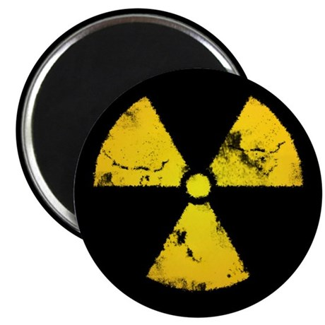 "Distressed Radiation Symbol 2.25"" Magnet (10 pack)"