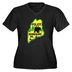 Kennebunk Maine Police Women's Plus Size V-Neck Da
