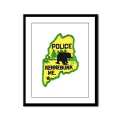 Kennebunk Maine Police Framed Panel Print