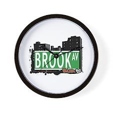 Brook Av, Bronx, NYC Wall Clock