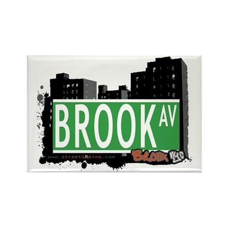 Brook Av, Bronx, NYC Rectangle Magnet (100 pack)
