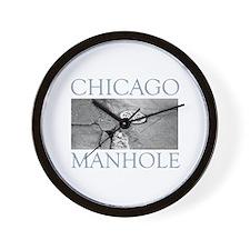 Chicago Manhole Wall Clock