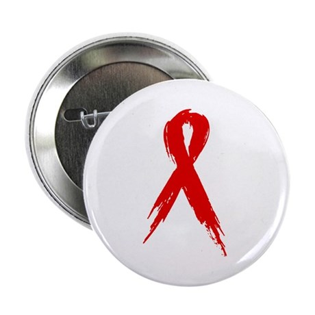 "Red Ribbon 2.25"" Button"