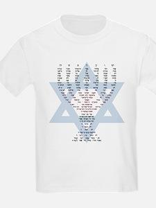 Tec Commandments Menorah (Hebrew) Kids T-Shirt